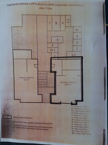 Prodej nebytového prostoru - 28.4 m2, Praha 4,